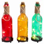 "Ctm International Giftware 15CTM0213 11"" Glass Bottle/Light"
