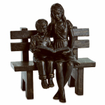 Ctm International Giftware 49122 Bronze Boy/Girl Bench Statue