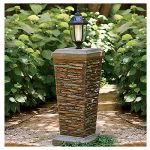 Ctm International Giftware 69749 Solar Lantern Pedestal, 38-In.