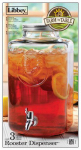 Libbey Glass 92154 Beverage Dispenser With Lid & Spigot, Glass, 12.5 x 7.3-In.