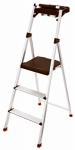 Tricam Industries RMA-3T Step Stool With Tray, 3-Step, Aluminum