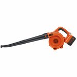 Black & Decker LSW36 Cordless Sweeper/Blower, 120 MPH, 40-Volt Lithium-Ion Battery