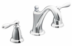 Moen/Faucets WS84440 Caldwell Widespread Lavatory Faucet, Chrome