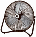 Zhilang International FE50-D2 High-Velocity Floor Fan, 3-Speed, Metal, 20-In.