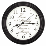 La Crosse Technology 20898 Inspiration Wall Clock, Black, 11.25-In.