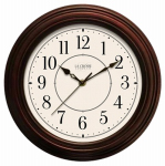 La Crosse Technology 404-2630W Faux Wood Wall Clock, 12-In.