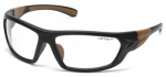 Pyramex Safety Products CHB210D Carbondale Safety Glasses, Clear Lens/Black & Tan Frame