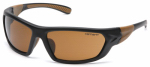 Pyramex Safety Products CHB218D Carbondale Safety Glasses, Sandstone Lens/Black & Tan Frame