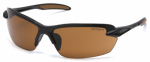 Pyramex Safety Products CHB318D Spokane Safety Glasses, Bronze Lens/Black Frame