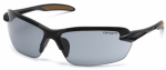 Pyramex Safety Products CHB320D Spokane Safety Glasses, Gray Lens/Black Frame