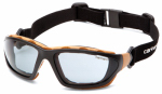 Pyramex Safety Products CHB420DTP Carthage Safety Glasses, Gray Lens/Black & Tan Frame