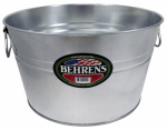 Behrens 0GS Galvanized Steel Tub, 5-Gal.