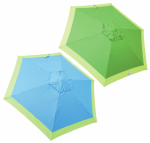 Rio Brands UDS97-2016 Market Umbrella, Turquoise with Lime Trim & Green with Lime Trim, 7-Ft.