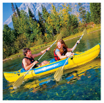 Stearns 2000014125 Tahiti Classic Inflatable Kayak, 2-Person, Yellow