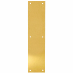 "Tell Manufacturing DT100071 3.5 x 15"" Push Plate, brass"