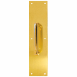 "Tell Manufacturing DT100068 3.5 x 15"" Pull Plate, brass"