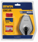 Irwin Industrial Tool 1932881 100-Ft. Aluminum Chalk Line Reel + Red Chalk, 4-oz.