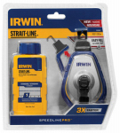 Irwin Industrial Tool 1932887 100-Ft. Speed Line Chalk Pro Reel + Blue Chalk, 4-oz.