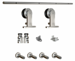 National Mfg/Spectrum Brands Hhi N186-962 Sliding Door Hardware Kit, Interior, Stainless Steel