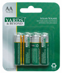 Jiawei Technology Usa BT-NC-AA-600-D4 Rechargeable AA Solar Light Batteries, 4-Pk.