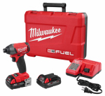 Milwaukee Electric or Electrical Tool 2753-22CT M18 Fuel Impact Driver Kit, 1/4-In., CP Batteries