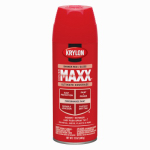 Krylon Diversified Brands K09104000 CoverMaxx Spray Paint & Primer, Gloss, Banner Red, 12-oz.