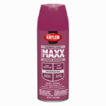 Krylon Diversified Brands K09135000 CoverMaxx Spray Paint & Primer, Gloss, Raspberry, 12-oz.