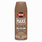 Krylon Diversified Brands K09138000 CoverMaxx Spray Paint & Primer, Gloss, Saddle Tan, 12-oz.