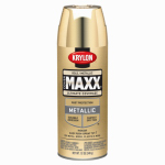 Krylon Diversified Brands K09194000 CoverMaxx Spray Paint & Primer, Metallic, Gold, 12-oz.