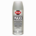 Krylon Diversified Brands K09195000 CoverMaxx Spray Paint & Primer, Metallic, Brushed Satin Nickel, 12-oz.