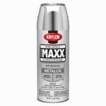 Krylon Diversified Brands K09196000 CoverMaxx Spray Paint & Primer, Metallic, Silver, 12-oz.