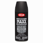 Krylon Diversified Brands K09147000 CoverMaxx Spray Paint & Primer, Flat, Black, 12-oz.
