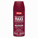 Krylon Diversified Brands K09161000 CoverMaxx Spray Paint & Primer, Satin, Burgundy, 12-oz.