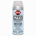 Krylon Diversified Brands K09163000 CoverMaxx Spray Paint & Primer, Satin, Clear Acrylic, 12-oz.