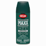 Krylon Diversified Brands K09164000 CoverMaxx Spray Paint & Primer, Satin, Hunter Green, 12-oz.