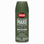 Krylon Diversified Brands K09167000 CoverMaxx Spray Paint & Primer, Satin, Italian Olive, 12-oz.