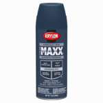 Krylon Diversified Brands K09172000 CoverMaxx Spray Paint & Primer, Satin, Oxford Blue, 12-oz.