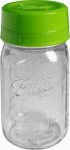 Jarden Home Brands 1440040003 Pour & Measure Cap Mason Jar, Wide-Mouth, 1-Qt.