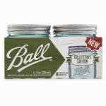 Jarden Home Brands 1440069022 Collection Elite Mason Jars, Blue, 1/2-Pt., 4-Pk.