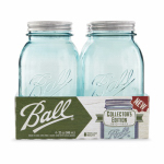 Jarden Home Brands 1440069024 Collection Elite Mason Jars, Wide-Mouth, Blue, 1-Qt., 4-Pk.