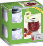 Jarden Home Brands 1440081210 Collection Elite Jam Jars, 8-oz., 4-Pk.