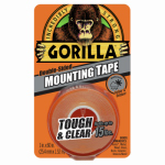 Gorilla Glue 6065003 Mounting Tape, Clear, 1 x 60-In.