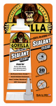 Gorilla Glue 8090002 Silicone Sealant, Clear, 2.8-oz. Tube