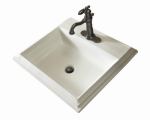 Mansfield Plumbing Products 254-4 Rectangle Drop-in Lavatory, White, 22-7/16 x 18-15/16-In.