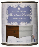 Amitha Verma BB32 Chalk Finish Paint, Belgian Blue, 1-Qt.