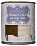 Amitha Verma CW32 Chalk Finish Paint, Chantilly White, 1-Qt.