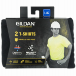 Gildan Usa 1047488 Pocket T-Shirt, Black, Men's Large, 2-Pk.