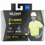 Gildan Usa G205340SG-L Pocket T-Shirt, Sport Gray, Men's Large, 2-Pk.