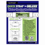 Ready America QS-50-D Water Heater Strap Deluxe - 80 Gallon