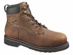 Wolverine Worldwide W10081 07.5M Brek Waterproof Boots, Medium Width, Brown Leather, Men's Size 7.5
